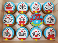 Doraemon Cupcakes (Box of 12) - Cuppacakes - Singapore's Very Own Cupcakes Shop