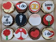 Wedding Cupcakes (Box of 12) - Cuppacakes - Singapore's Very Own Cupcakes Shop