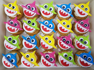 Baby Shark Mini Cupcakes (Box of 20) - Cuppacakes - Singapore's Very Own Cupcakes Shop