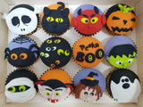 Halloween Cupcakes - Peeka Boo (Box of 12) - Cuppacakes - Singapore's Very Own Cupcakes Shop