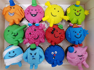 Mr Men Cupcakes (Box of 12) - Cuppacakes - Singapore's Very Own Cupcakes Shop
