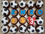 Football Mini Cupcakes (Box of 20) - Cuppacakes - Singapore's Very Own Cupcakes Shop