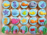 Under The Sea Mini Cupcakes (Box of 20) - Cuppacakes - Singapore's Very Own Cupcakes Shop
