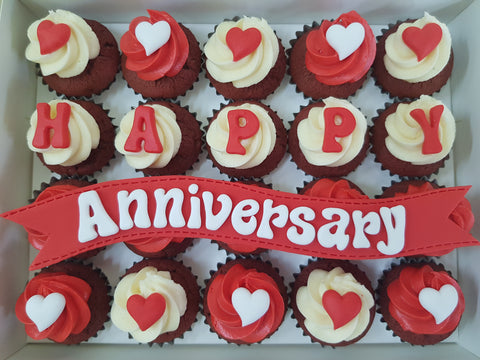 Anniversary Mini Cupcakes (Box of 20)
