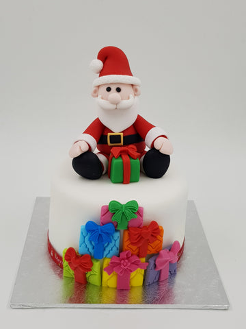 Christmas Festive Cake (4 Inch Round) - Santa - Cuppacakes - Singapore's Very Own Cupcakes Shop