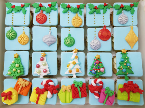 Christmas Mini Cupcakes (Box of 20) - 'Tis The Season - Cuppacakes - Singapore's Very Own Cupcakes Shop