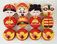 CNY Cupcakes - Abundance Blessings (Box of 12) - Cuppacakes - Singapore's Very Own Cupcakes Shop