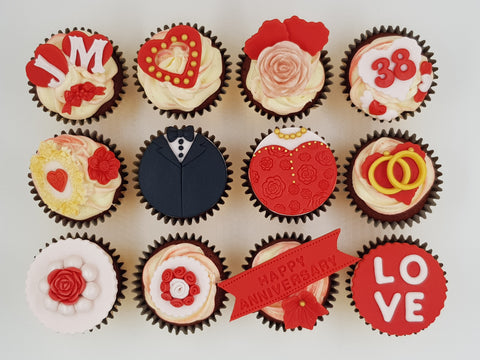 Anniversary Cupcakes (Box of 12) - Cuppacakes - Singapore's Very Own Cupcakes Shop