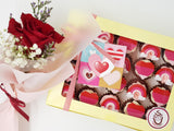 Valentine's Day Mini Cupcake Set - Rainbow Valentine - Cuppacakes - Singapore's Very Own Cupcakes Shop