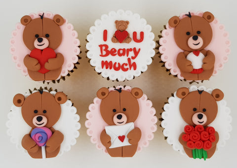 Valentine's Day Cupcake Set - Beary Love - Cuppacakes - Singapore's Very Own Cupcakes Shop