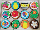 Tropical Themed Cupcakes (Box of 12)