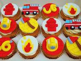 Fire Fighting Themed Cupcakes (Box of 12)