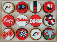 F1 Racing Themed Cupcakes (Box of 12)