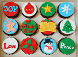 Christmas Cupcakes (Set of 12) - Joy Love Peace