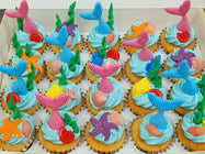 Mermaid Themed Mini Cupcakes (Box of 20)