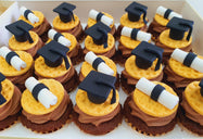 Graduation Mini Cupcakes (Box of 20)