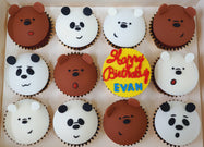 Bare Bear Cupcakes (Box of 12)