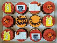Basketball Cupcakes (Box of 12)