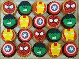 Superhero Mini Cupcakes (Box of 20)