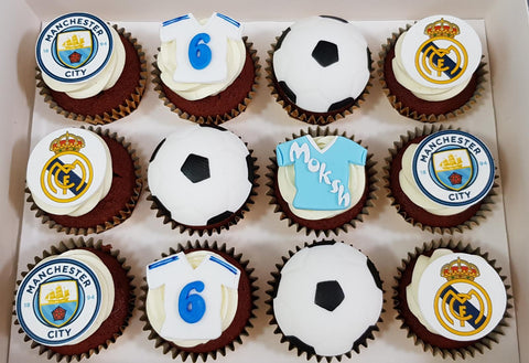 Football Cupcakes (Box of 12) - Cuppacakes - Singapore's Very Own Cupcakes Shop