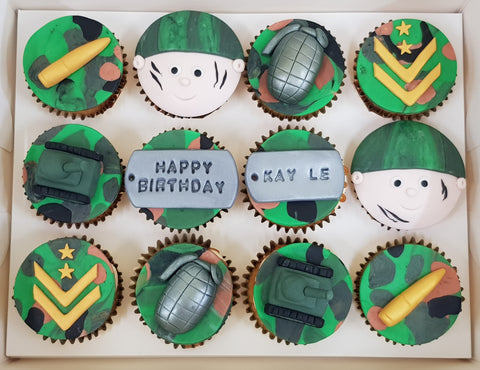 Army Themed Cupcakes (Box of 12)