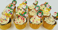 Christmas Cupcakes (Set of 12) - Colours of Christmas