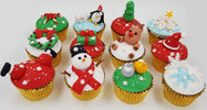 Christmas Cupcakes (Set of 12) - Let It Snow