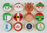 Christmas Cupcakes (Set of 12) - Santa And Friends