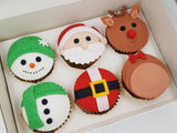 Christmas Cupcakes (Set of 12) - Santa And Friends - Cuppacakes - Singapore's Very Own Cupcakes Shop