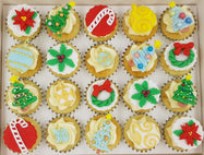 Christmas Mini Cupcakes (Box of 20) - O Christmas Tree