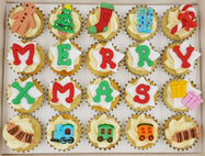 Christmas Mini Cupcakes (Box of 20) - Under the Xmas Tree