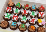 Christmas Mini Cupcakes (Box of 20) - Under the Xmas Tree - Cuppacakes - Singapore's Very Own Cupcakes Shop