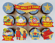 Father's Day Cupcake Set - Dad, My Hero - Cuppacakes - Singapore's Very Own Cupcakes Shop