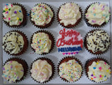 Birthday Cupcakes (Box of 12) - Cuppacakes - Singapore's Very Own Cupcakes Shop