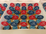 Printed toppers (Box of 12) - Cuppacakes - Singapore's Very Own Cupcakes Shop