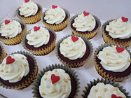 Heart Topper Cupcakes (Box of 12) - Cuppacakes - Singapore's Very Own Cupcakes Shop
