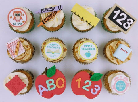 Teacher's Day Cupcakes (Box of 12) - Cuppacakes - Singapore's Very Own Cupcakes Shop