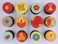Deepavali Cupcakes - Happy Diwali (Box of 12) - Cuppacakes - Singapore's Very Own Cupcakes Shop