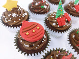 Christmas Cupcakes Gift Box 2017 (Box of 12)