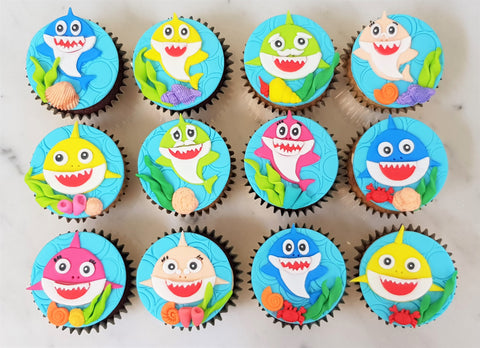 Baby Shark Cupcakes (Box of 12)