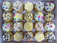 Assorted Sprinkles Mini Cupcakes (Box of 20)