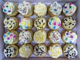 Assorted Sprinkles Mini Cupcakes (Box of 20) - Cuppacakes - Singapore's Very Own Cupcakes Shop
