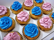 Assorted Color Frosting Cupcakes (Box of 12)