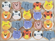 Jungle Animal Mini Cupcakes (Box of 20)