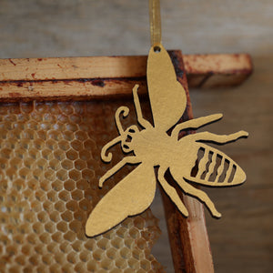 Gold Bee Christmas Decoration
