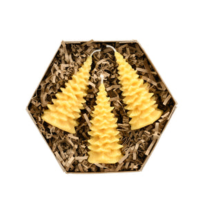 Pure Beeswax Christmas Tree Gift Set
