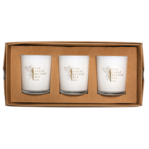 Beeswax Votive Candle 9cl Triple Gift Box