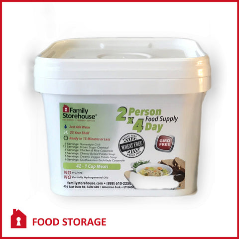 Gluten Free Emergency Food Supply | Wheat Free 2-Person 4-Day