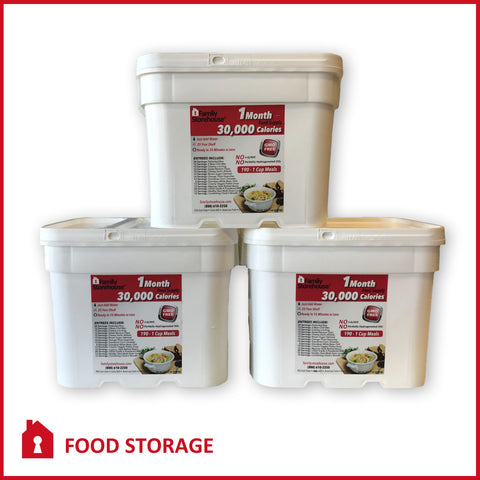 3 Month Emergency Food Supply - Breakfast, Lunch & Dinner