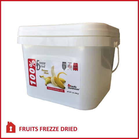 Freeze Dried Bananas Food Storage
